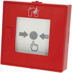 "Handfeuermelder """"haus/flamme"""" multi/XP95 isolator, ABS rot"