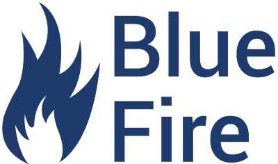 Blue Fire logo (orgineel is Illustrator bestand)