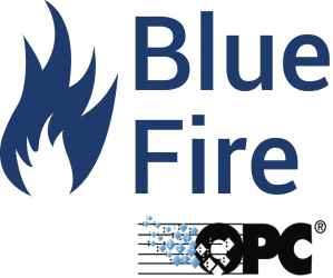 Blue Fire - OPC-Server (orgineel bestand is Illustrator)