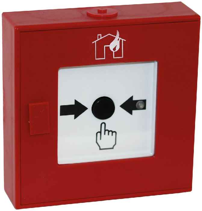 XP95 ABS Handfeuermelder -Haus/Flamme-, Isolator (rot)