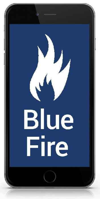 Blue Fire - iPhone-Cient